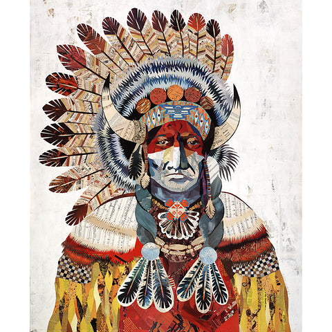 Multi Colored Print - Indian Chief #5