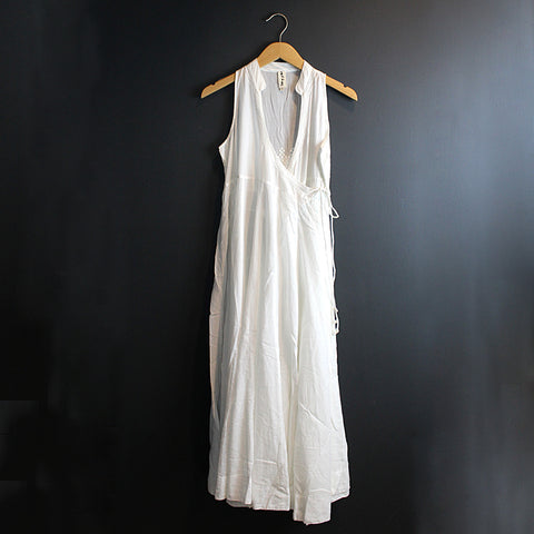 White Cotton Wrap Dress