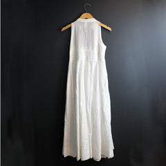 .White Cotton Wrap Dress