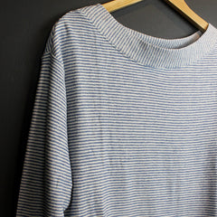 .Blue Striped Sweater