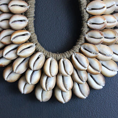 Brown Cowrie Collar Necklace