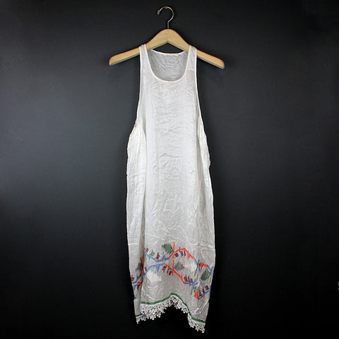 .White Silk Slip Dress