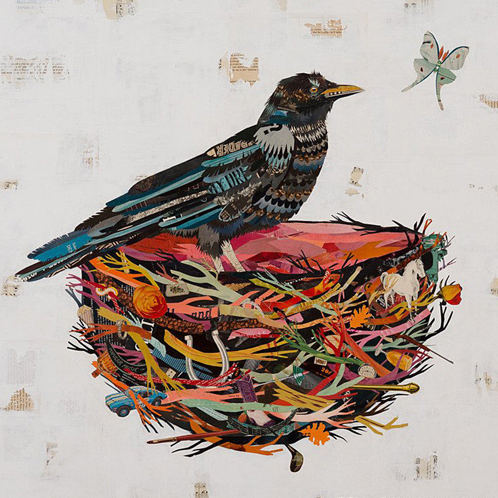 Multi Colored Print - Crow
