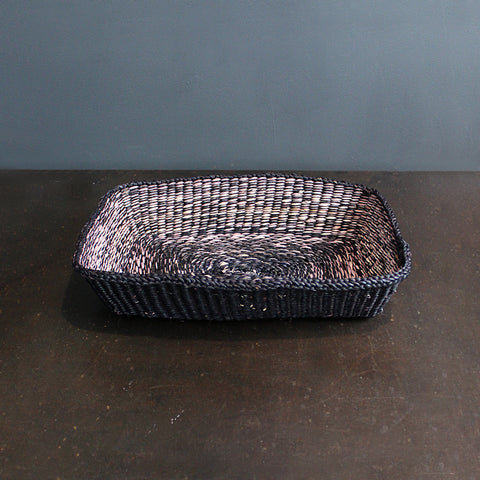 .Black Handwoven Basket