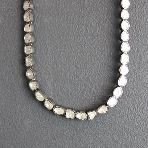 .Silver Diamond Necklace