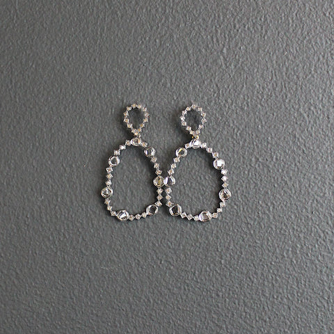 .Diamond Slice Earrings