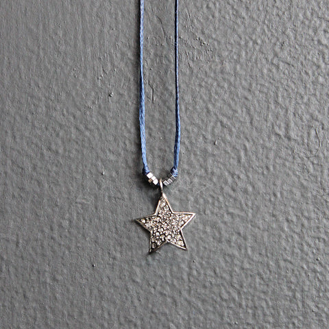 .Blue Diamond Star Necklace