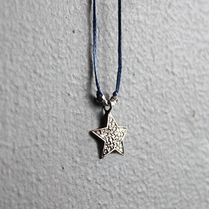 Blue Diamond Star Necklace