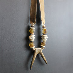 Brown Double Antler Necklace