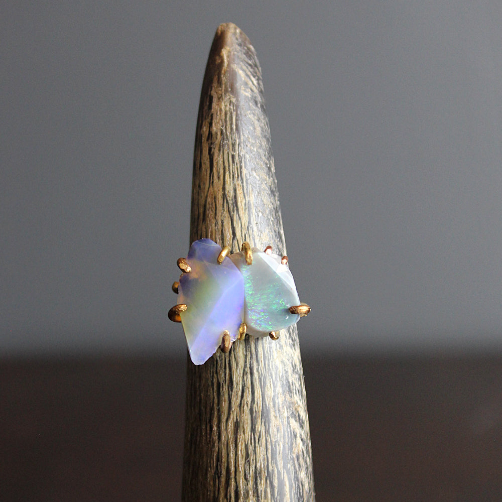 Multi Colored Opal Stacked Ring