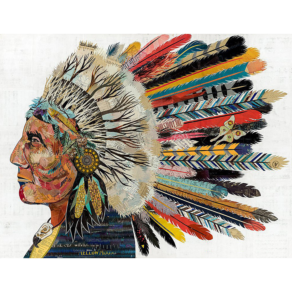 Multi Colored Print - Indian Chief #3
