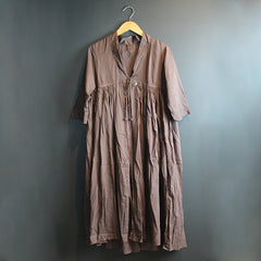 Brown Cotton Robe