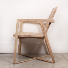 Brown Elm Handcrafted Chair