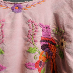 .Pink Hand Embroidered Top