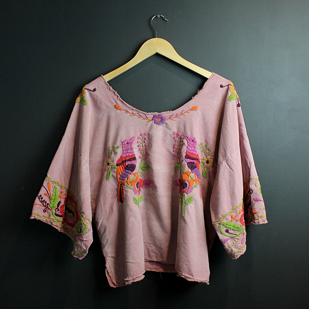 Pink Hand Embroidered Top