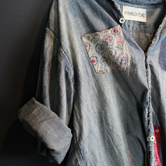 Blue Embroidered Indian Top