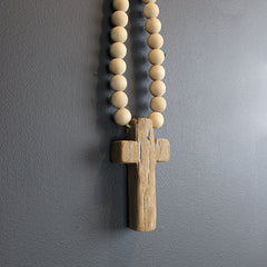 Brown Extra Mini Wood Cross Wall Art