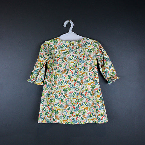 .Floral Japanese Cotton Dress