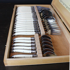 Cream 24 Piece Flatware Set