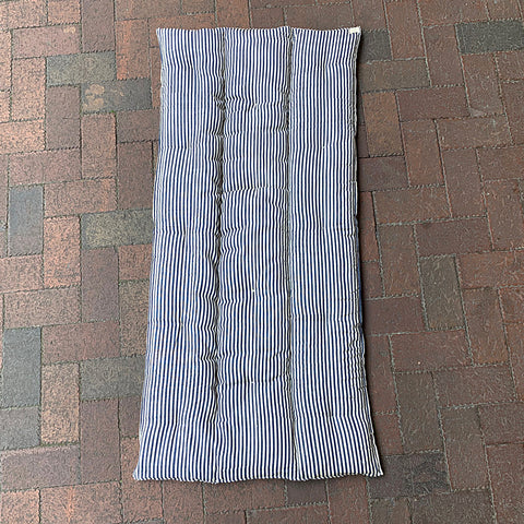 .Blue + White Stripe Floor Cushion - Rectangle