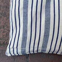Blue + White Stripe Floor Cushion - Rectangle