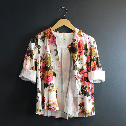 .Multi Colored Floral Jacket