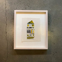 "Multi Colored Framed Art ""Rental"" - 10 1/2"" x 12"""