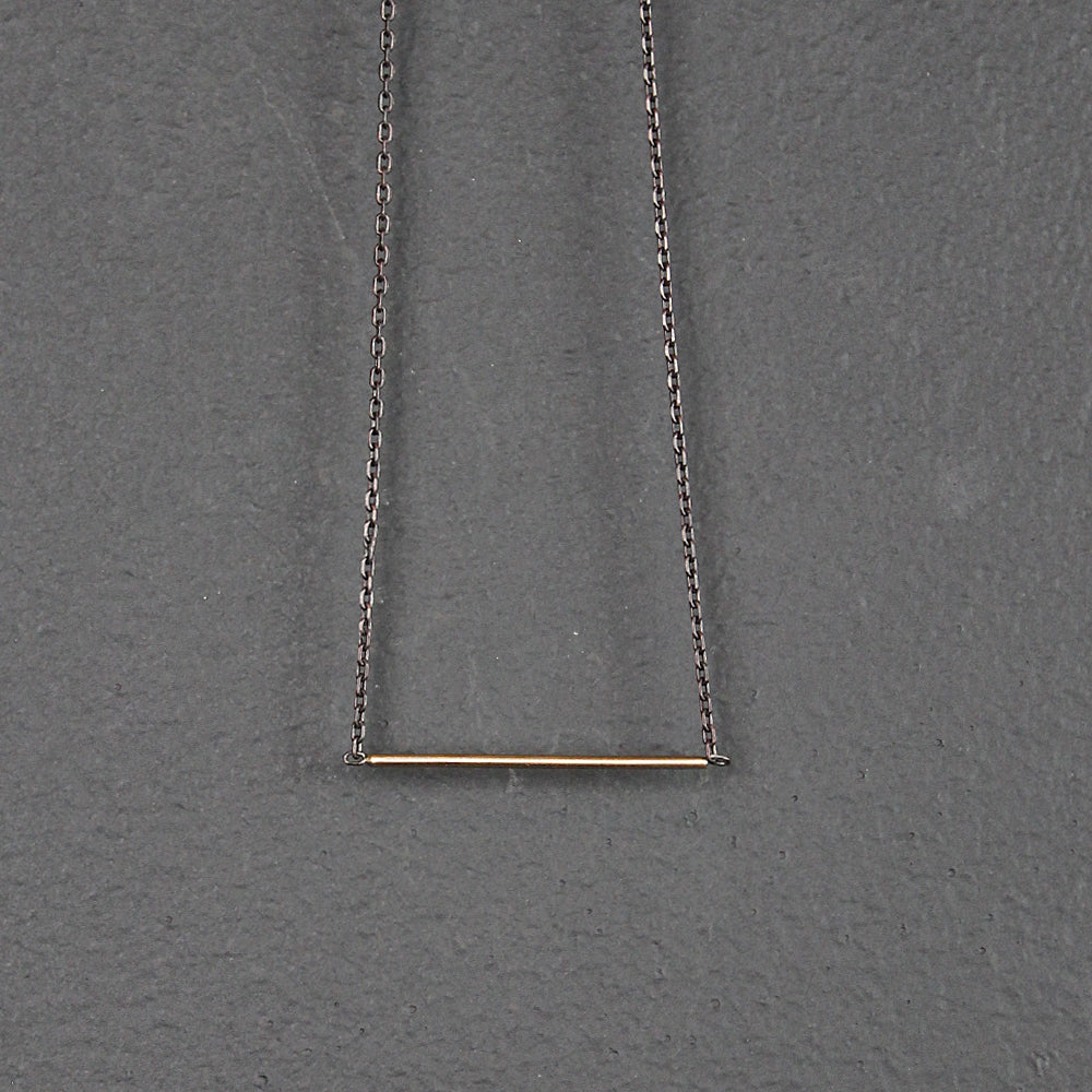 Gold 14K Bar Necklace