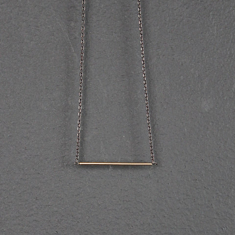 .Gold 14K Bar Necklace