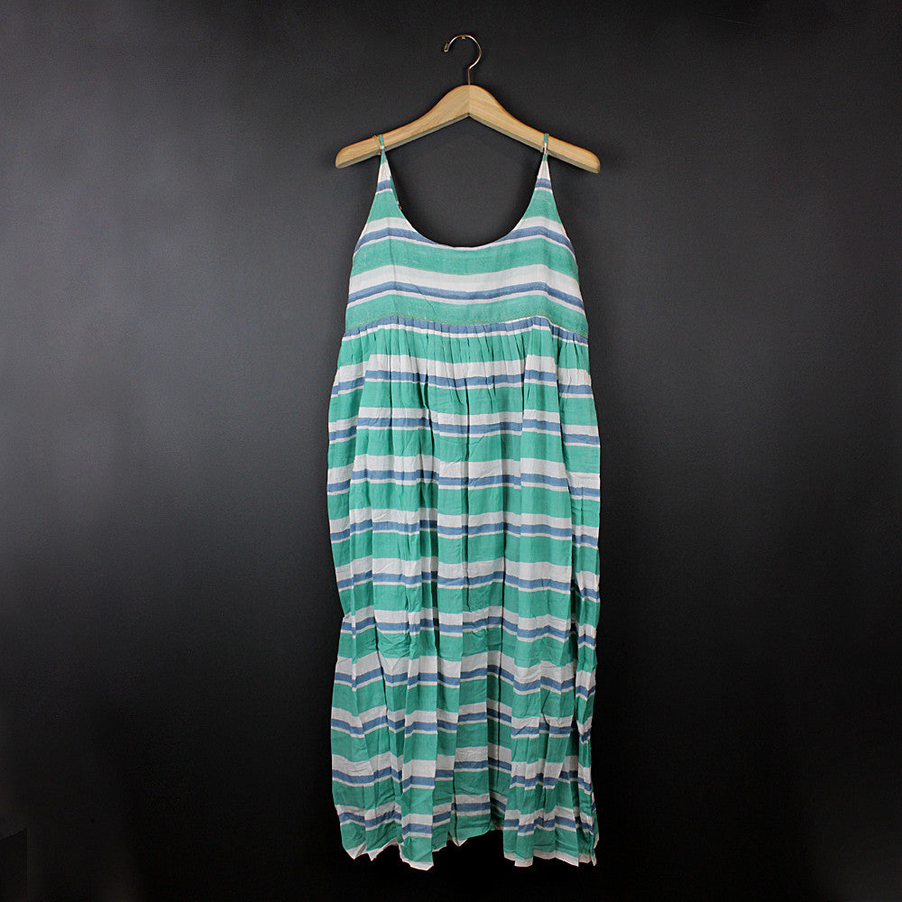 .Green Cotton Slip Dress