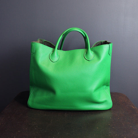 .Green Handmade Leather Bag