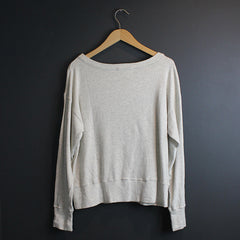 .Grey Ribbed Sweater