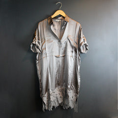 Grey Silk Dress