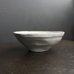 White Handmade Beaded Bowl