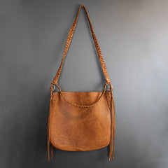 Brown Handmade Leather Bag - Large
