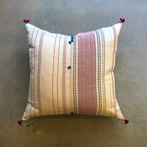 ".Cream Handmade Pillow - 24"" x 24"""