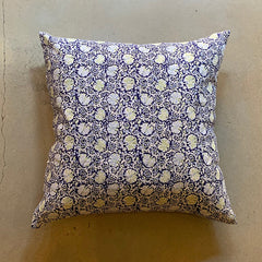 "Blue + Green Hand Block Printed Hasa Pillow - 26"" x 26"""