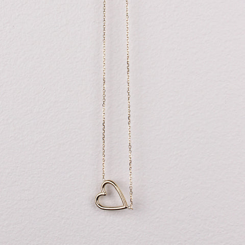 Gold 14k Gold Tiny Heart Necklace