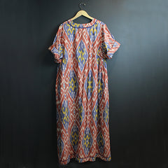 Multi Colored Ikat Kaftan