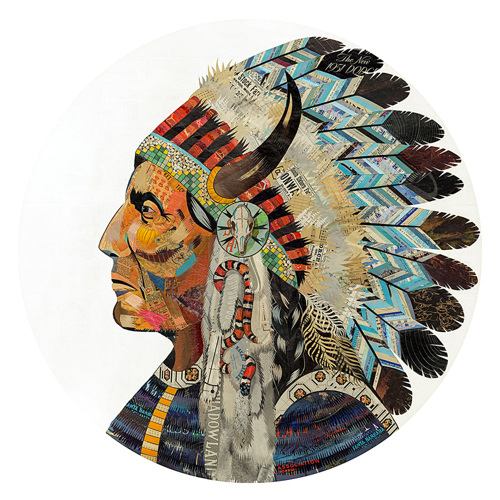 Multi Colored Print - Indian Chief #6