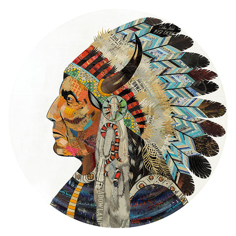 .Multi Colored Print - Indian Chief #6