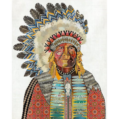 Multi Colored Print - Indian Chief #4