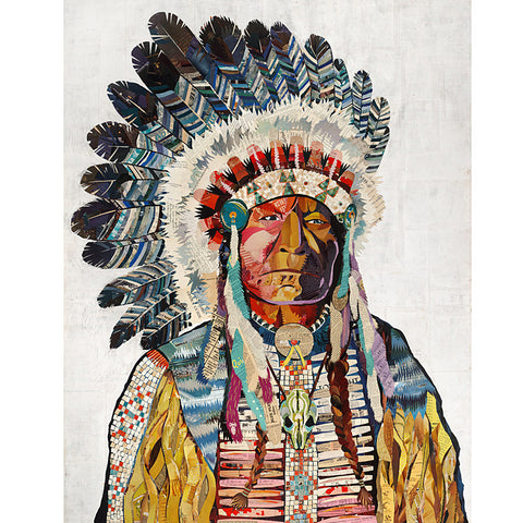 Multi Colored Print - Indian Chief #1