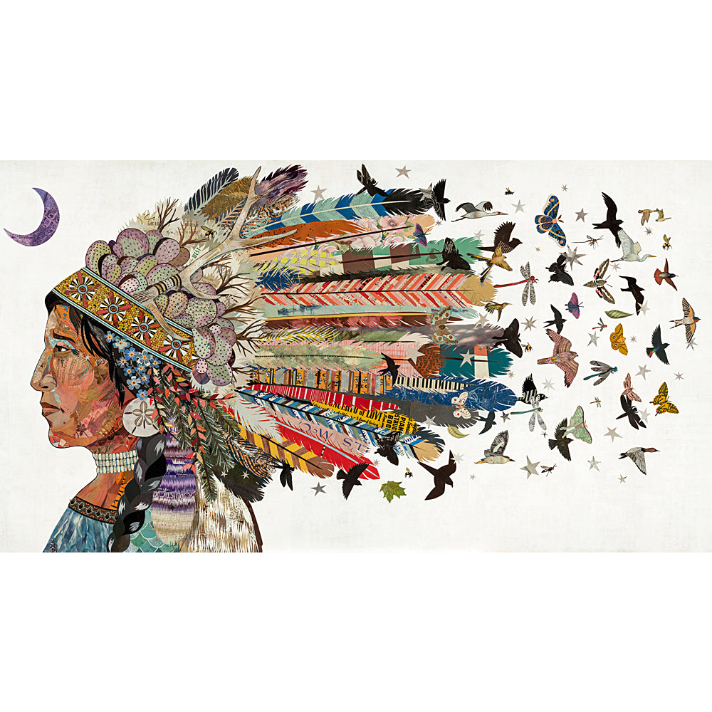 Multi Colored Print - Birds in Flight #2