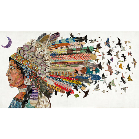 .Multi Colored Print - Birds in Flight #2