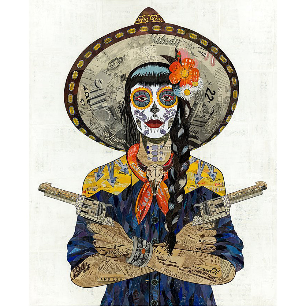 Multi Colored Print - Indigo Cowgirl