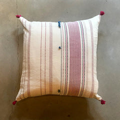 "Cream Handmade Pillow - 24"" x 24"""