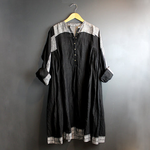 .Black + White Handmade Chunnat Dress
