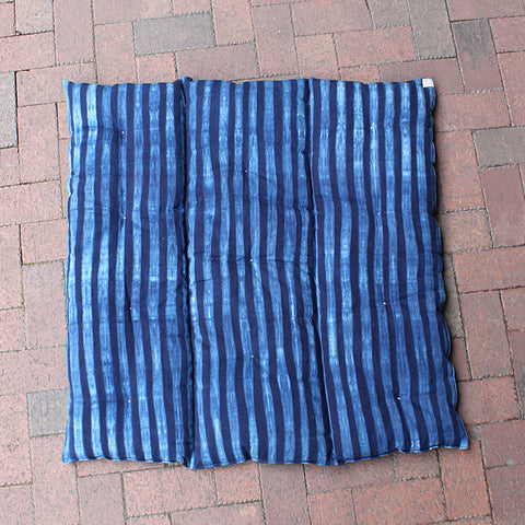 .Blue Stripe Floor Cushion