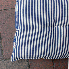 .Blue + White Stripe Floor Cushion